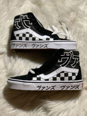 Vans SK8-HI Reissue 'Japanese Type' Typography Checkerboard Mens Sz 4, 5.5, & 6 for Sale in Lakewood, WA