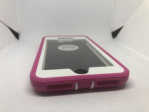 For iPhone 7 Plus / iPhone 8 Plus pink / white hard case funda cover protector for Sale in San Mateo, CA