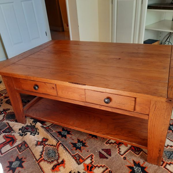 Solid Oak Broyhill Coffee Table
