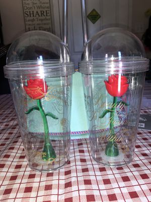 Disney Beauty and the Beast cups for Sale in Fresno, CA