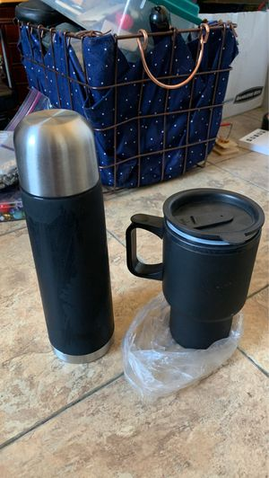 Thermal container and thermal cup with carrier for Sale in Smithville, MS