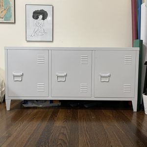 3-door White Metal Cabinet for Sale in Boston, MA