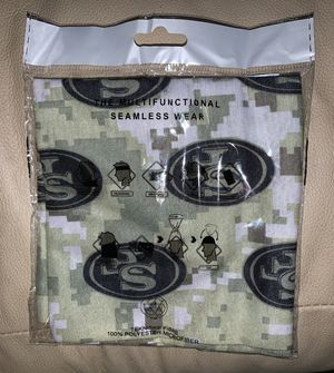 San Francisco 49ers Army Limited Edition Multi-use Scarf Bandana Face Mask for Sale in Los Angeles, CA