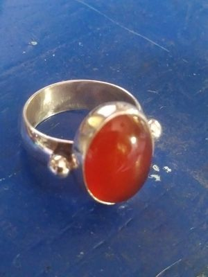 Handmade Sterling Silver Carnelian Ring for Sale in Payson, AZ