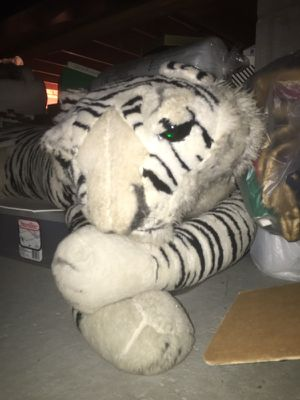 Giant stuffed white tiger - perfect gift! for Sale in Howard, OH