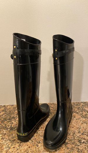 Ralph Lauren tall rain boots size 9 for Sale in NJ, US