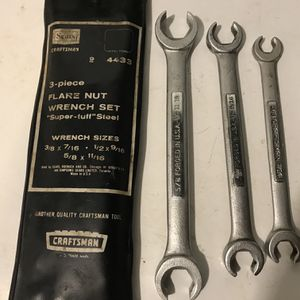 Craftsman 3 Piece Flare Nut Wrench Set for Sale in Roseland, NJ