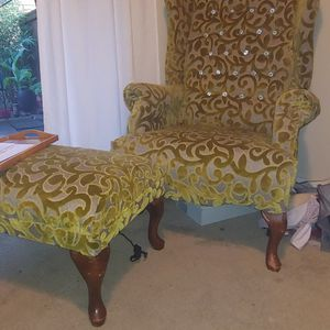 Wingback Chair And Ottoman for Sale in Seattle, WA