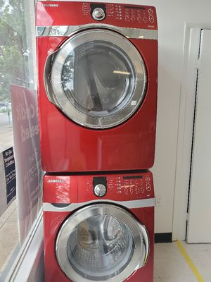 Samsung front load washer and electric dryer set used in good condition with 90 day's warranty for Sale in Mount Rainier, MD