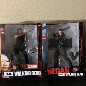 (2) NIB: TWD : The Walking Dead: Glenn and Negan for Sale in Westminster, CA