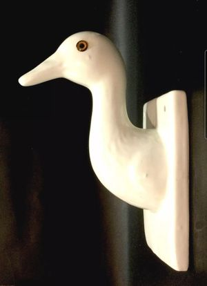 Ceramic Wall Hook Duck Goose Head Towel/Hat/Apron/Hanger-Country-Farm Decoration for Sale in Montclair, CA