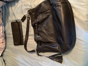 Black Coach Handbag with leather Wallet for Sale in Rock Hill, SC