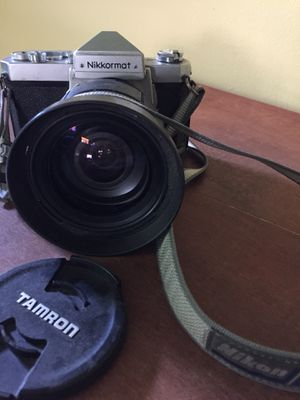 Nikkormat SLR film camera with Tamron Portrait Lens for Sale in Silver Spring, MD