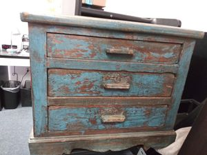 Shabby Chic Blue Distressed 3-Drawer Small Dresser for Sale in Monterey Park, CA