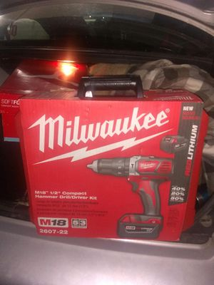 Milwaukee M18 1/2in Compact Hammer Drill/Driver Kit for Sale in Milwaukee, WI