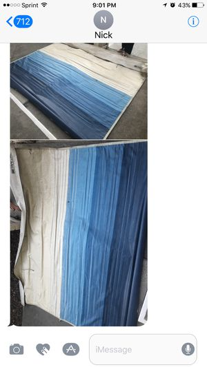 Vintage travel trailer awning with aluminum poles for Sale in Anaheim, CA