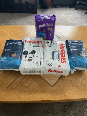 Diapers for all stages for Sale in Trenton, NJ