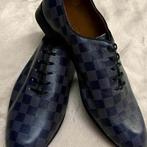 LV Damier Oxford Dress Shoes Size 9.5/10