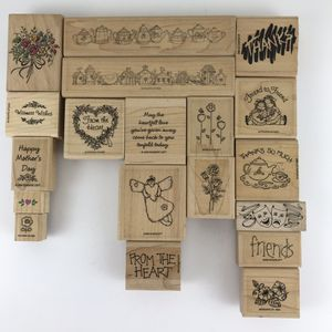 Lot of 40 rubber mounted stamps some new some used for Sale in Huntington Beach, CA