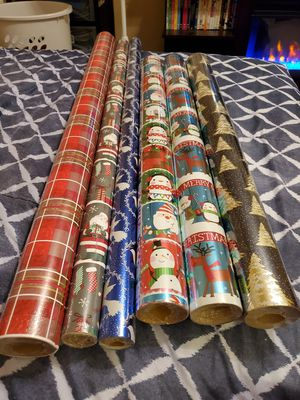 6 Rolls Of Christmas Paper for Sale in Lakeland, FL