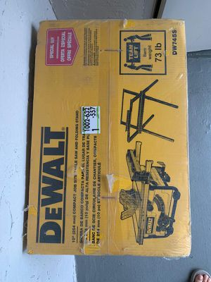 """DEWALT Table Saw 10"""" + STAND for Sale in Margate, FL"""