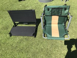 2 Stadium chairs good condition and good quality for Sale in Chino, CA