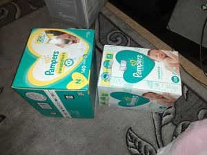 Case of newborn Pampers and case of wipes for Sale in Philadelphia, PA