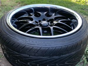 """18""""x9 all around XXR universal lug pattern set of rims and tires for Sale in Gardena, CA"""