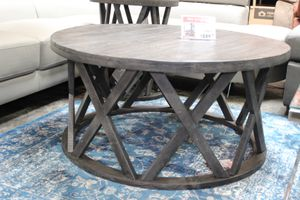 Round Cocktail Table, Greyish Brown, #T711-8 for Sale in Santa Fe Springs, CA