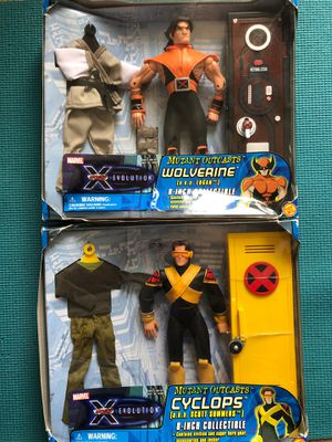 X-Men Evolutions Retro 2001 Cyclops and Wolverine Action Figures! In Box! for Sale in Moberly, MO