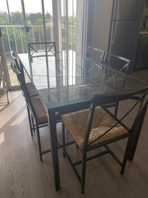6 Chairs Glass Kitchen Table for Sale in San Diego, CA