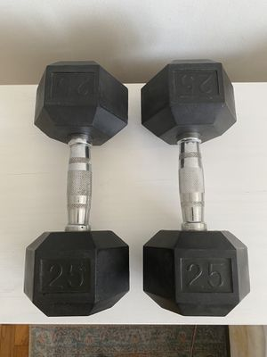 25lb hex dumbbell set for Sale in Los Angeles, CA