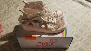 JoJo Siwa Pink Velvet Bow High Tops size 4 (fits like 3) for Sale in Phoenix, AZ