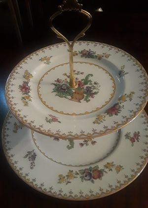 Vintage Spode Peplow China Bon Bon/ Cup Cake 2 Tier Plate for Sale in Columbus, OH