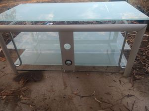 55 inch tv stand glass. for Sale in Fresno, CA