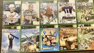 10 Original XBOX Games Including Monopoly Party Amped Airforce Delta Storm Off Road NBA Madden GOLF NHL HITZ for Sale in Happy Valley, OR