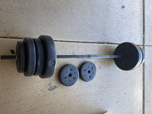 Barbell Set with 100 Lbs Weights for Sale in Queen Creek, AZ