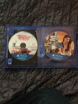 PS4 games gta 5 and need for speed for Sale in Woodlake, CA