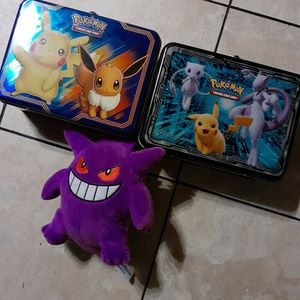 Pokemon Lunch Box Can Put Cards In Nd A Gangar Plush for Sale in Albuquerque, NM