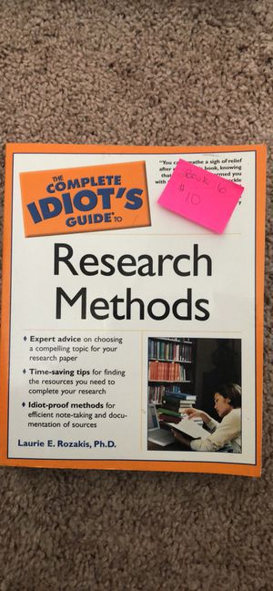 A complete idiots guide to Research Methods for Sale in Olympia, WA