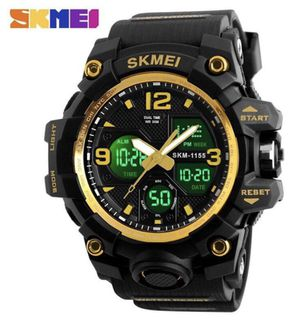 Men's Sports Military Large Dual Dial Analog Digital Date Multifunction LED Back Light Electronic Watch for Sale in Stone Mountain, GA