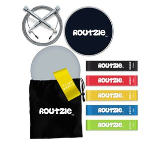 Routzie Exercise Band Set with Sliding Disc and Jump Rope for Sale in Benson, NC