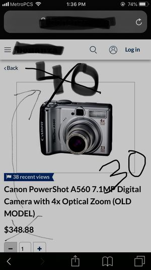Canon PowerShot A560 Digital Camera for Sale in Keizer, OR