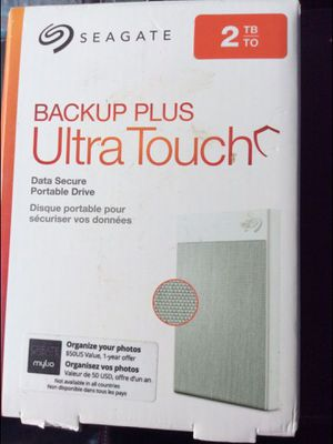 Seagate 2tb hard drive backup plus ultra touch for Sale in Anaheim, CA