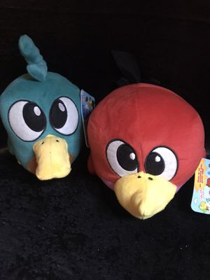 2 Angry/Happy Birds! New! Four colors to choose from pick your 2! for Sale in Savannah, GA