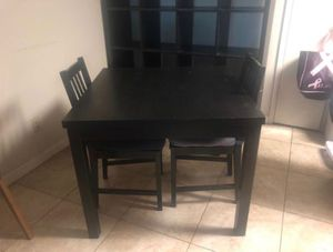 Black Kitchen Table w/ 2 Chairs for Sale in Palo Alto, CA