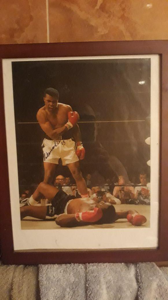 Muhammad Ali picture framed