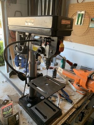 """Craftsman 10"""" drill press w/ work light and laser for Sale in Vacaville, CA"""