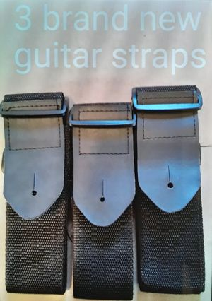 3 brand new guitar straps for $10 for Sale in Mt. Juliet, TN