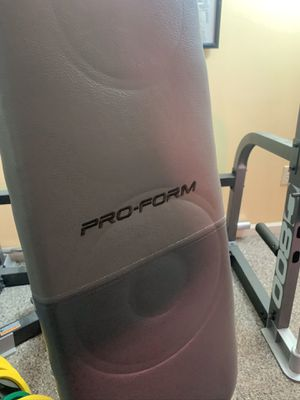 Pro Form smith machine with weights, excellent condition for Sale in Denver, PA